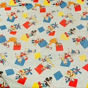 Vtg Disney Mickey & Friends 2 x Twin Flat Sheets